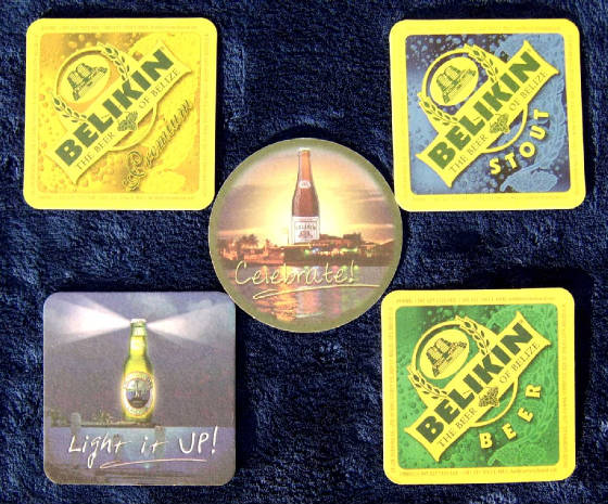 Belize Beer Coasters - Back Side