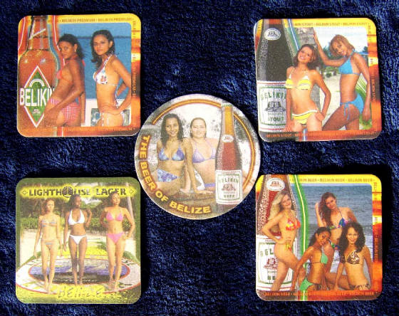 Belize Beer Coasters - Front Side